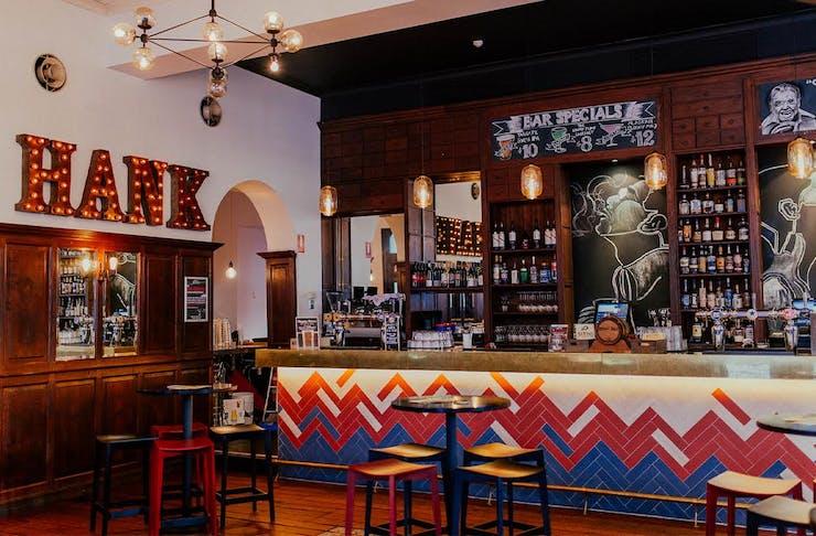 Photo of a colourful Brisbane bar.