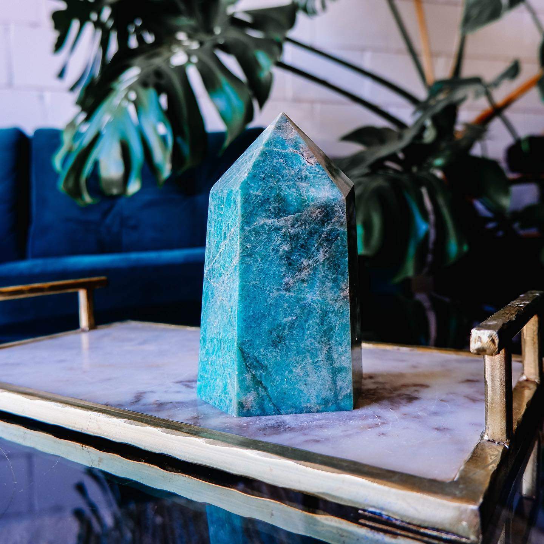 a large crystal pillar