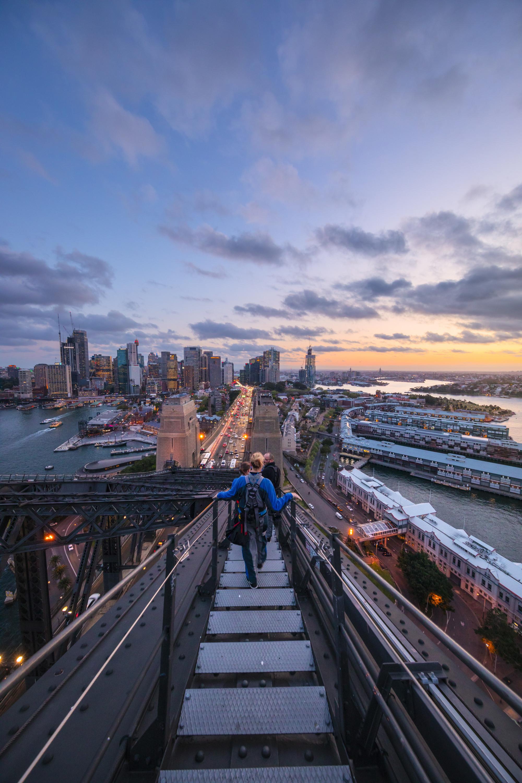 a stunning dawn climb of the sydney harbour bridge