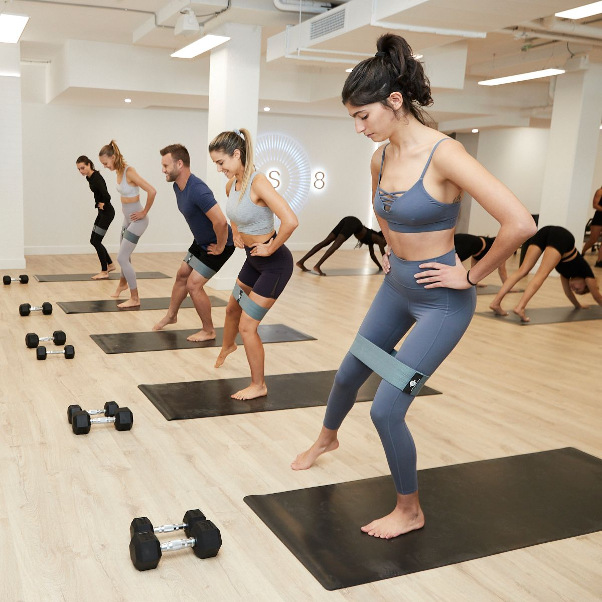 people working out in an fs8 studio