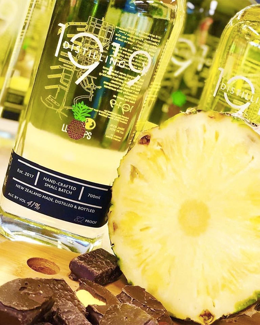 Pineapple lumps inspired gin from 1919.