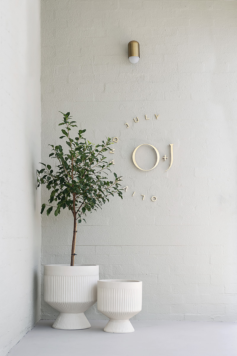 Entryway to Olive and July Spa in South Perth