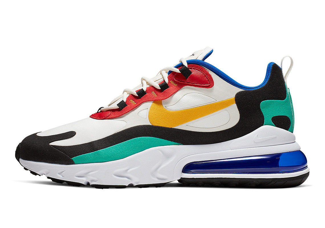 94992405 Not only is the colourway sick, but Nike has merged the Air Max 270  cushioning units, with the React midsole – what does that mean? They are  really fucking ...