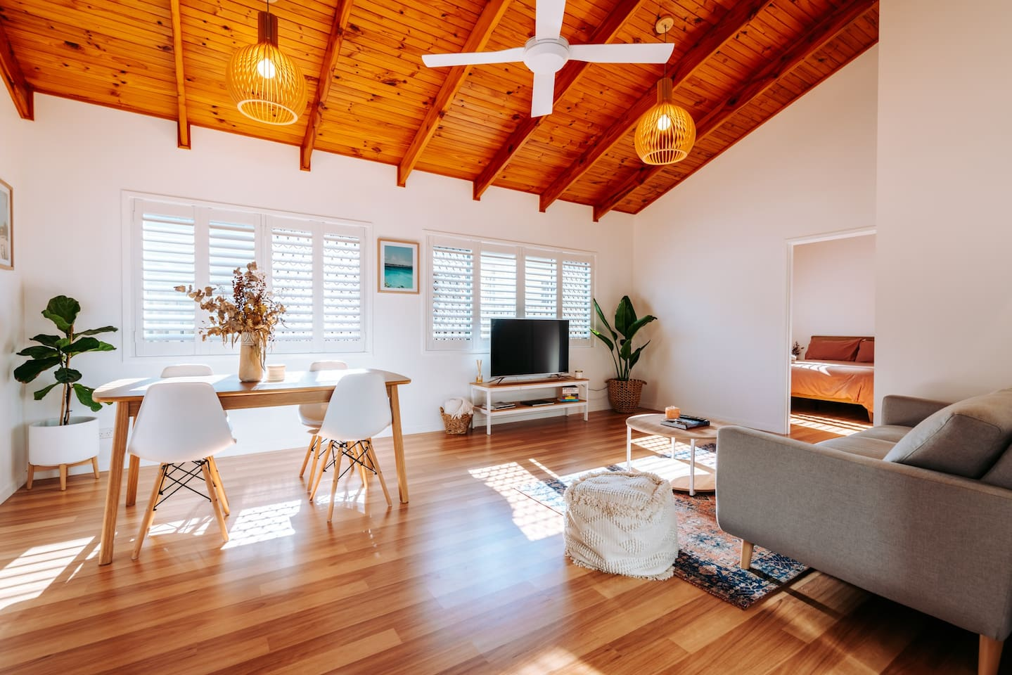 an airy living room