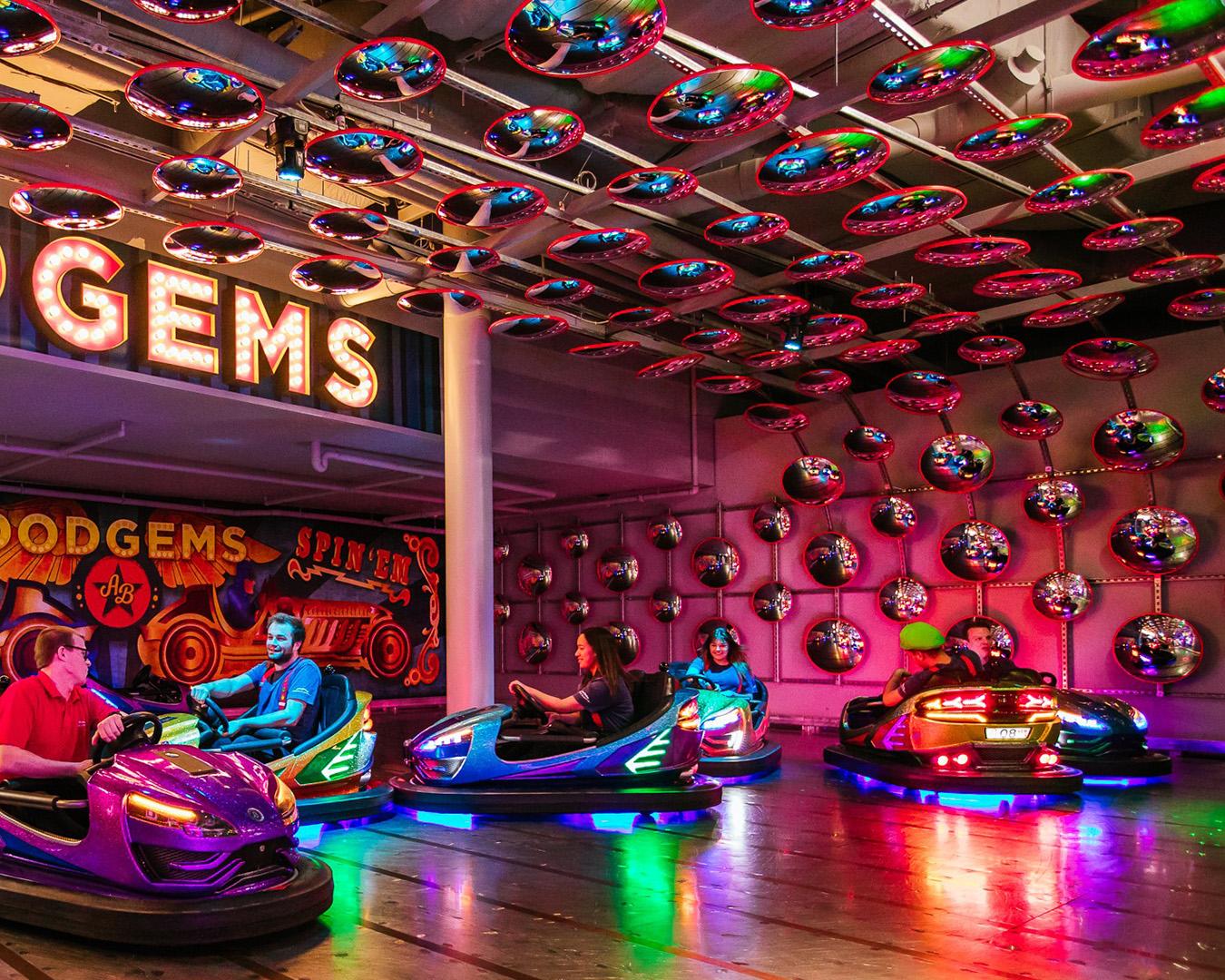 Bumper Cars At Archie Brothers Cirque Electriq