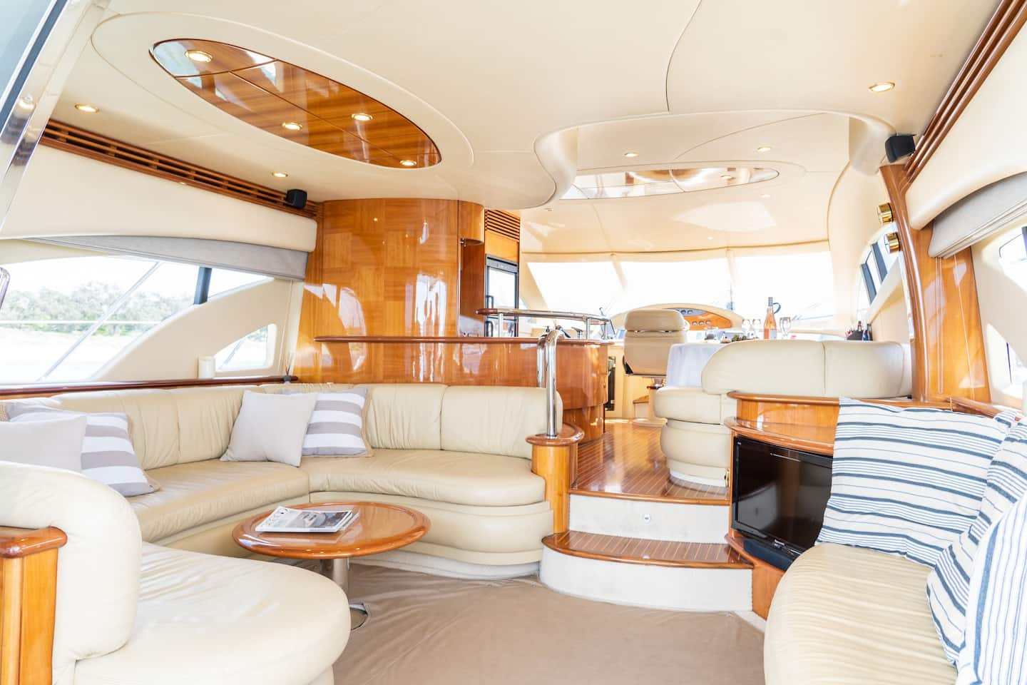 interior of a luxe boat