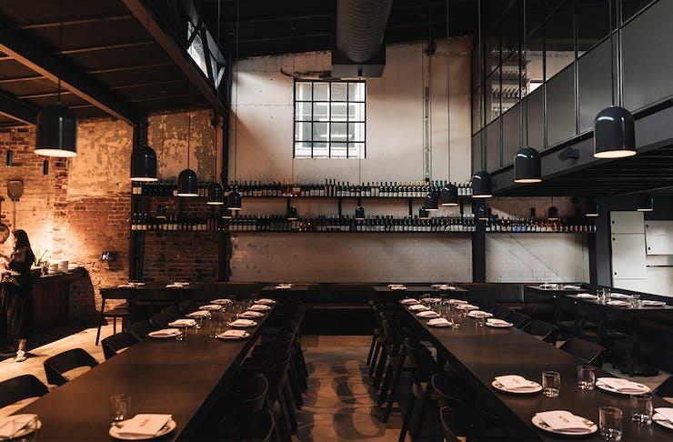 Dining room inside Agnes restaurant