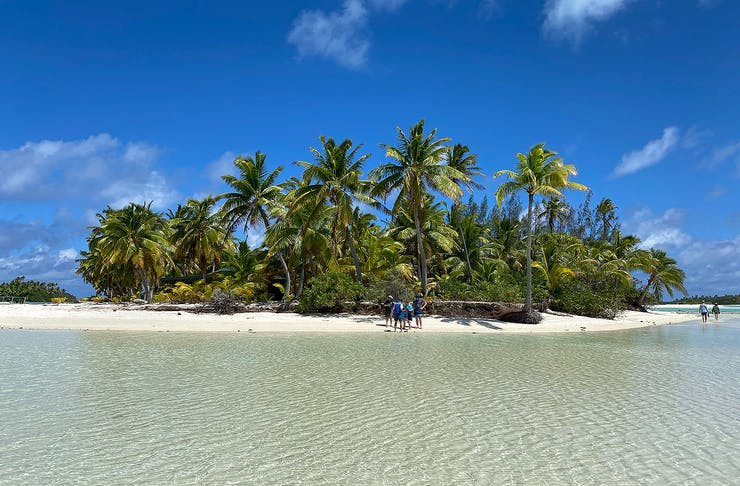 The stunning island of Aitutaki in the Cook Islands
