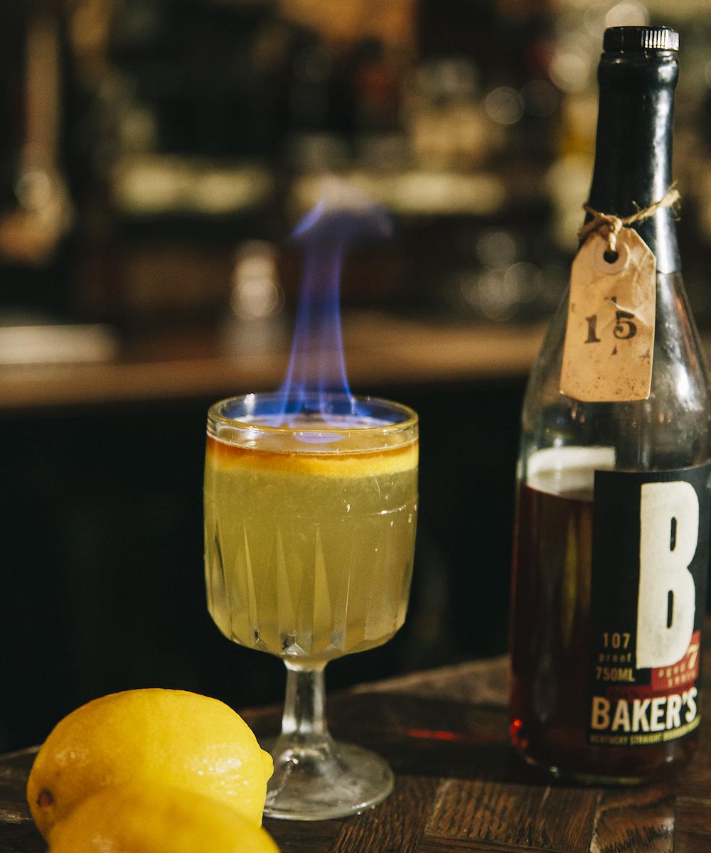 Image of flaming cocktail at Alabama Song Bar