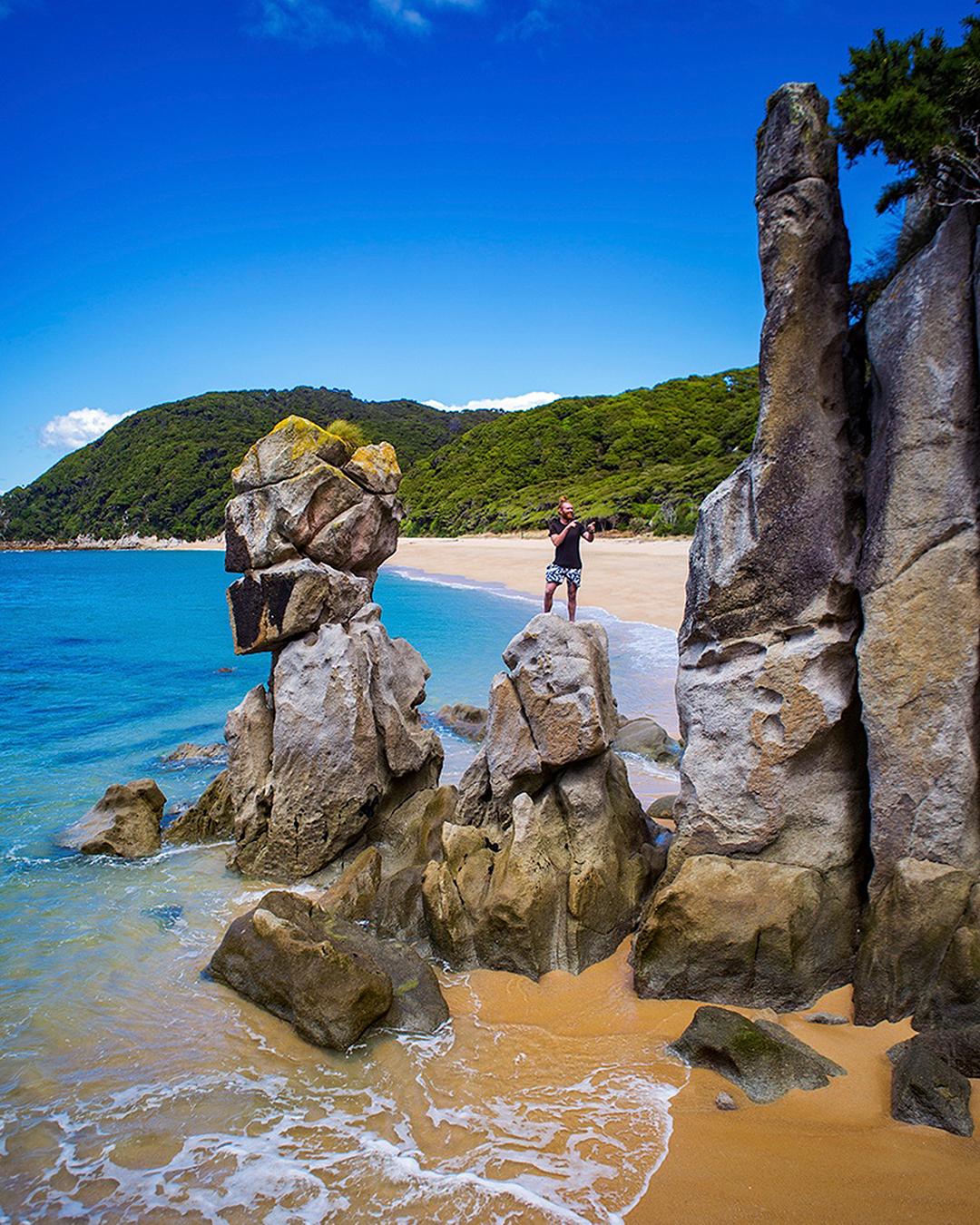 Anapai Bay Rock Stacks