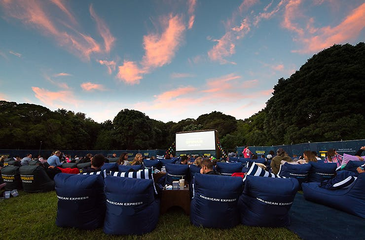 The American Express Outdoor cinema at Western Springs, Auckland