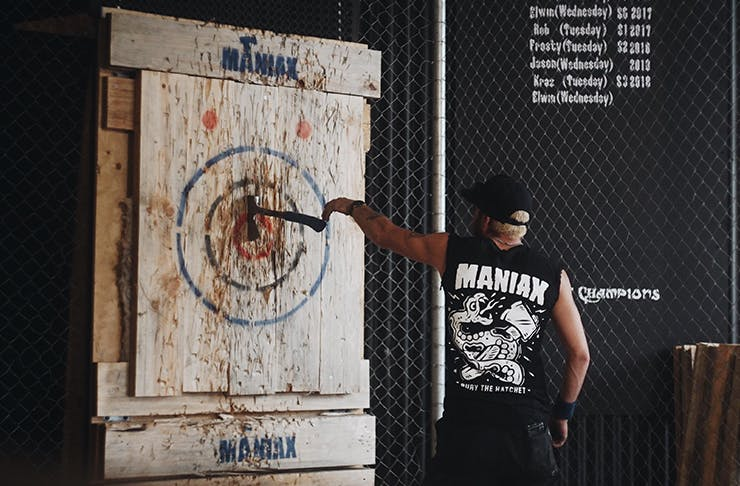 Axe throwing perth