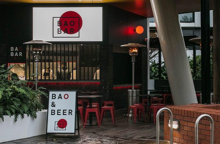 The front entrance of Bao Bar