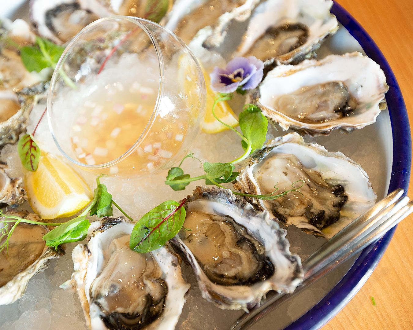 Oysters au naturel just waiting to get smashed.