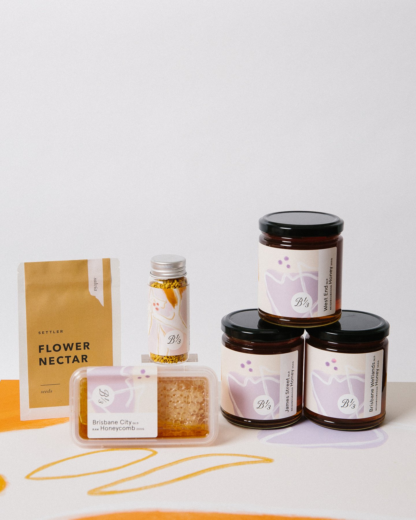 A gift set of honey from Bee One Third.