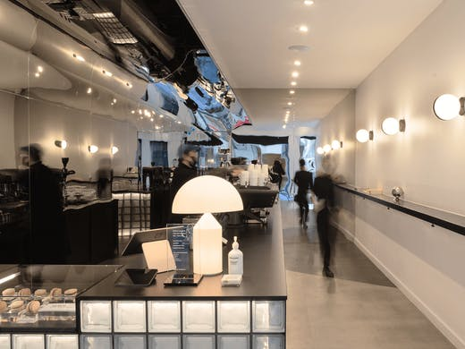 The interior of Bench Coffee Co.