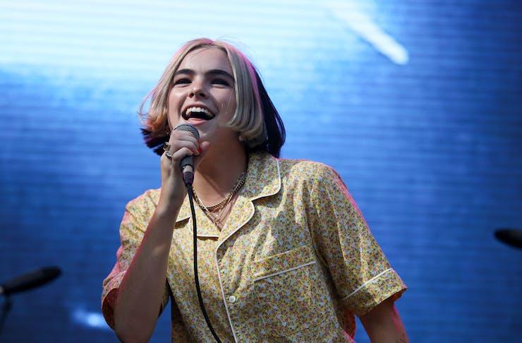 NZ singer Benee sings