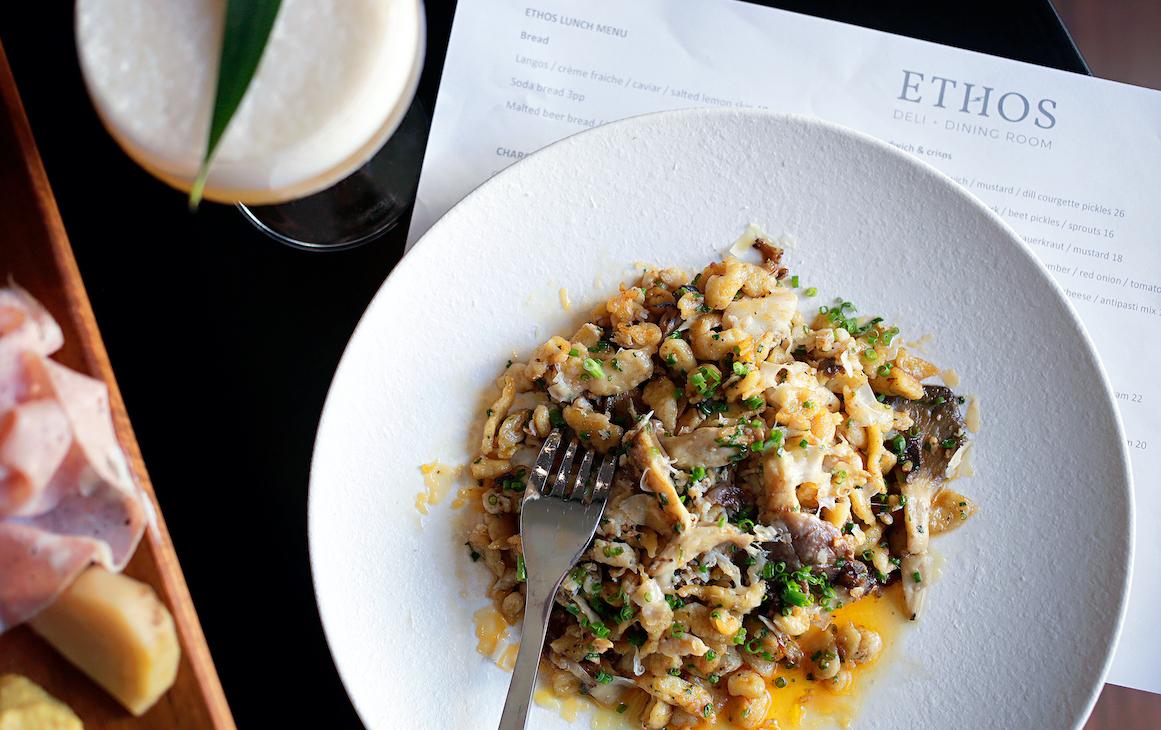 Mushrom dish at Ethos in Fremantle