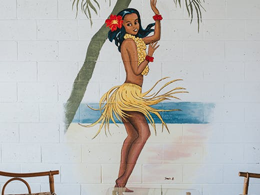 Hula Girl Espresso Mermaid Beach