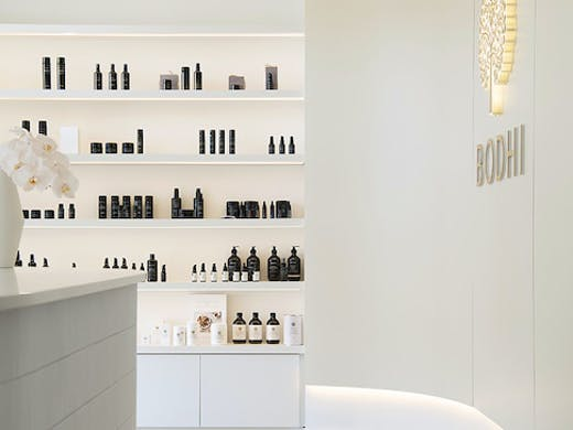Shelves of products at Bodhi J Cottesloe