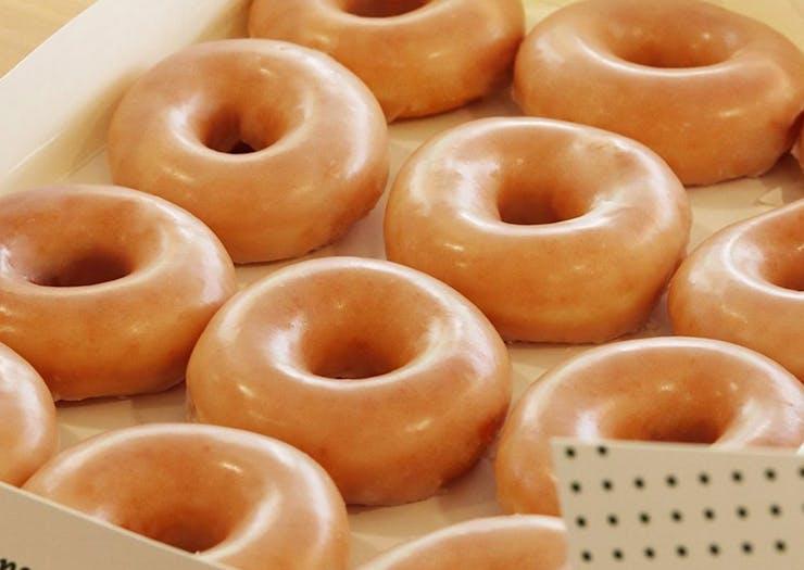 Box of Original Glazed Doughnuts at Krispy Kreme