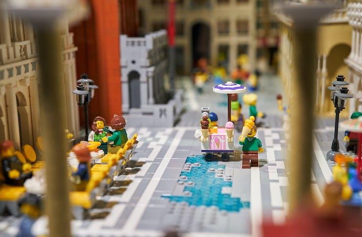 A LEGO display.