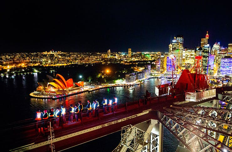 J Horan, Vivid Sydney Harbour Bridge Climb