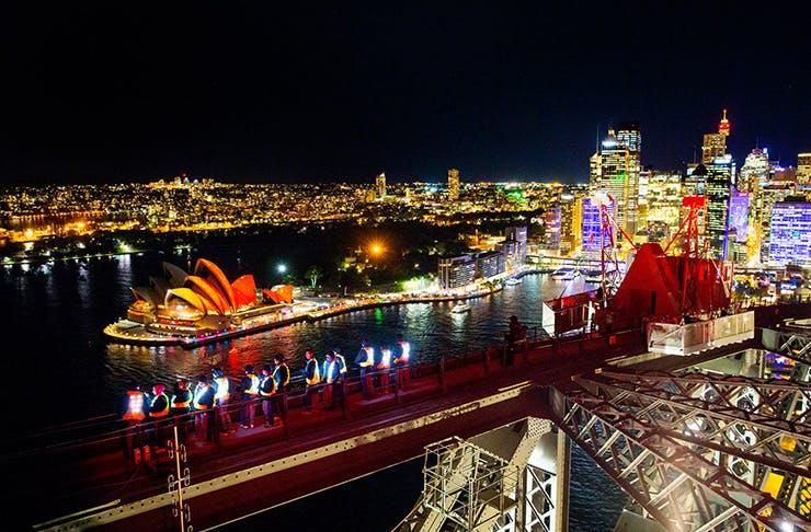 J Horan, Vivid Sydney Harbour Bridge Climb