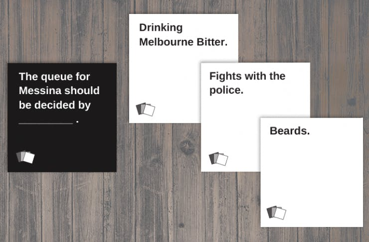 melbourne cards against humanity