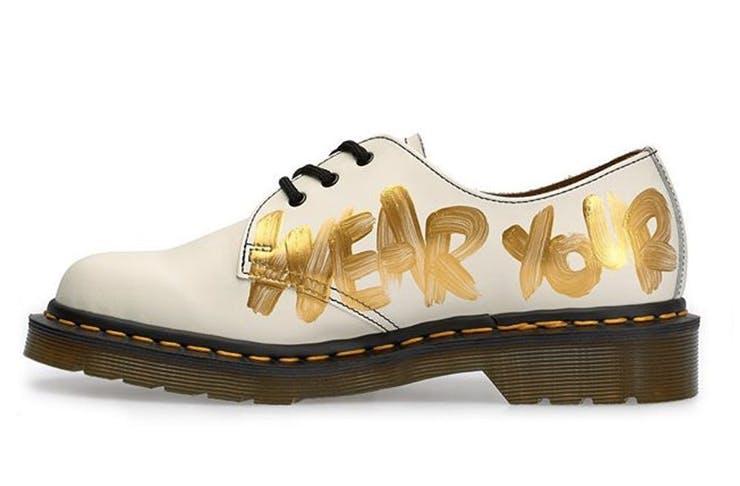 COMME des GARÇONS Reveals Gold-Painted Dr. Martens Collaboration