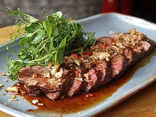 The grilled beef bavette at Cafe Hanoi, just mouthwatering.