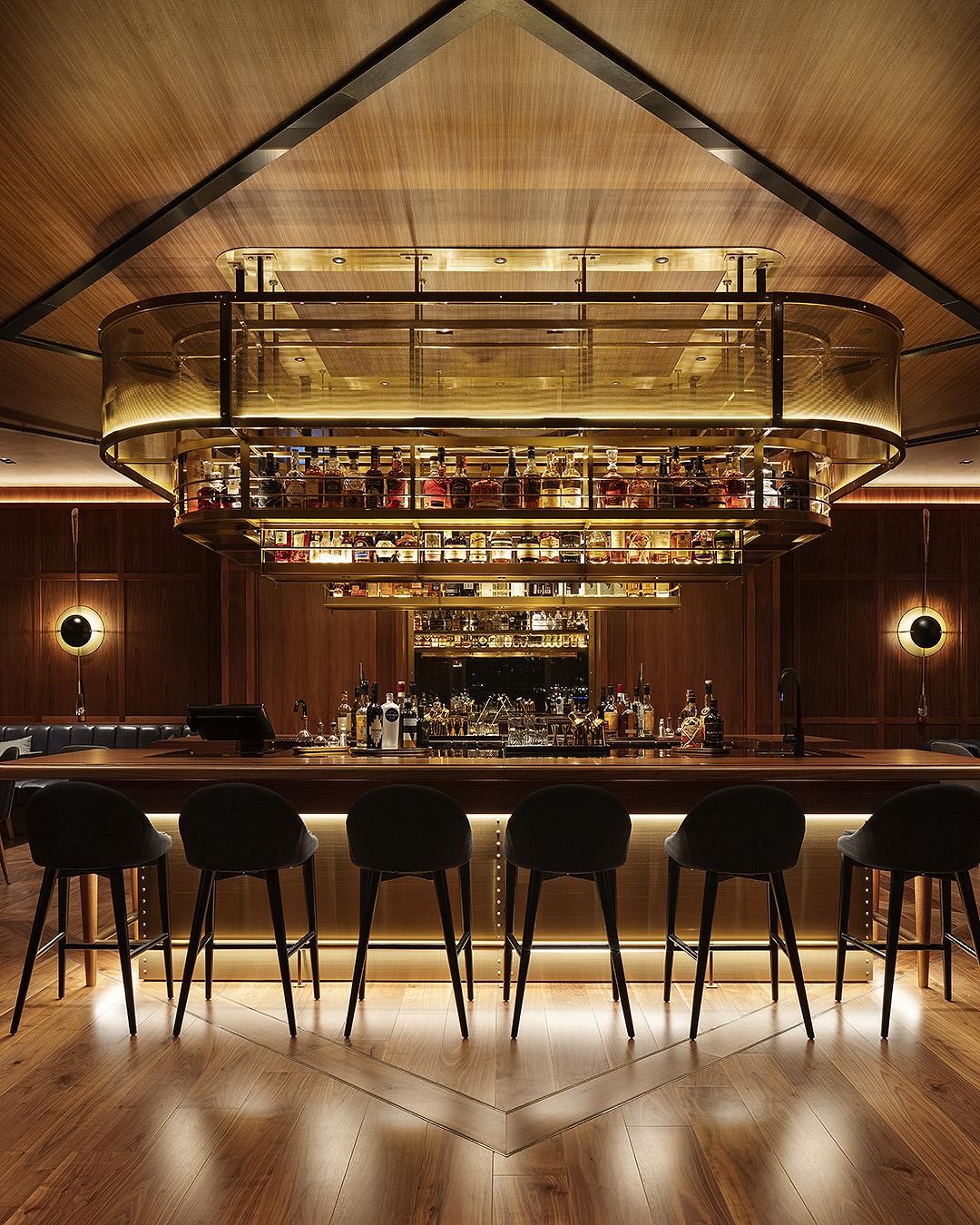 Late night at the swish captain's bar at the Park Hyatt.