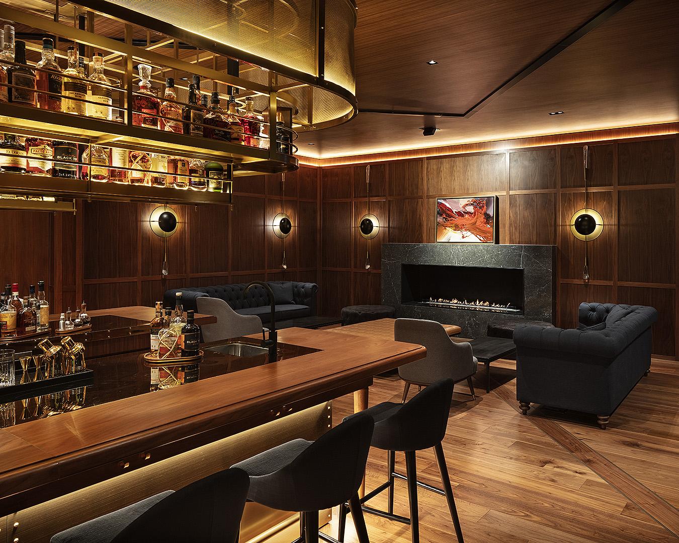 The stunning Captain's bar at the Park Hyatt hotel.