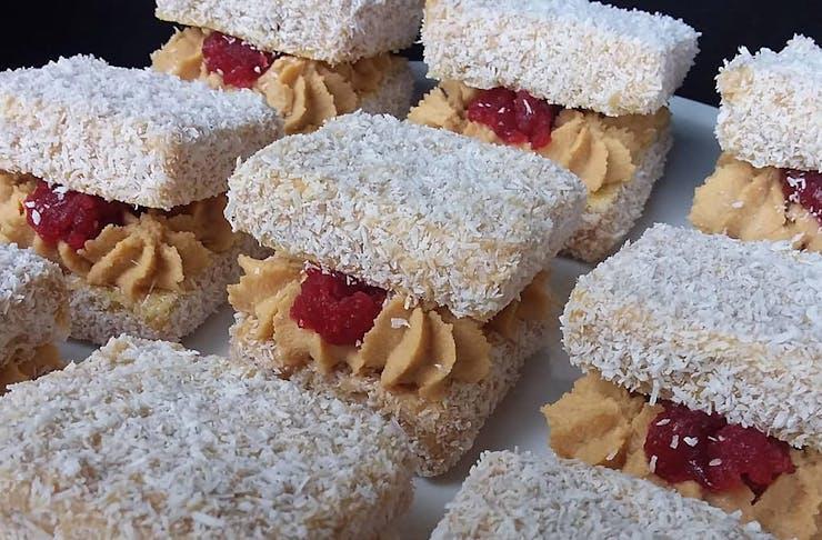 Caramelk Lamingtons from Kookie Haus