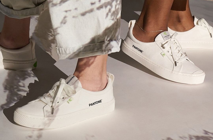 Sustainable Sneakers Blowing