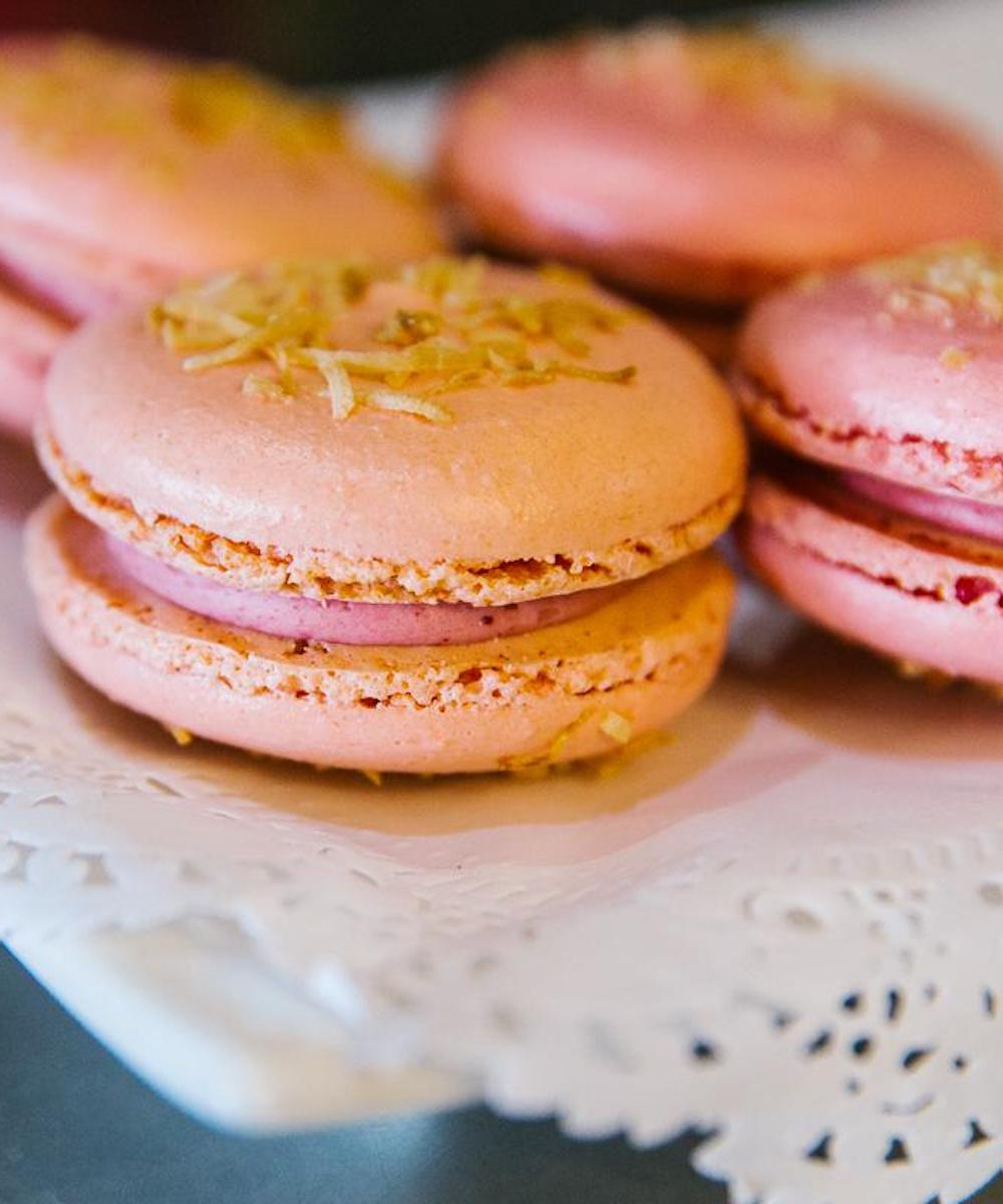 The macarons at high tea at Chapels on Whatley in Maylands.