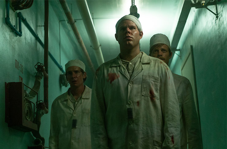 A group of doctors in HBO's retelling of the Chernobyl Nuclear Disaster