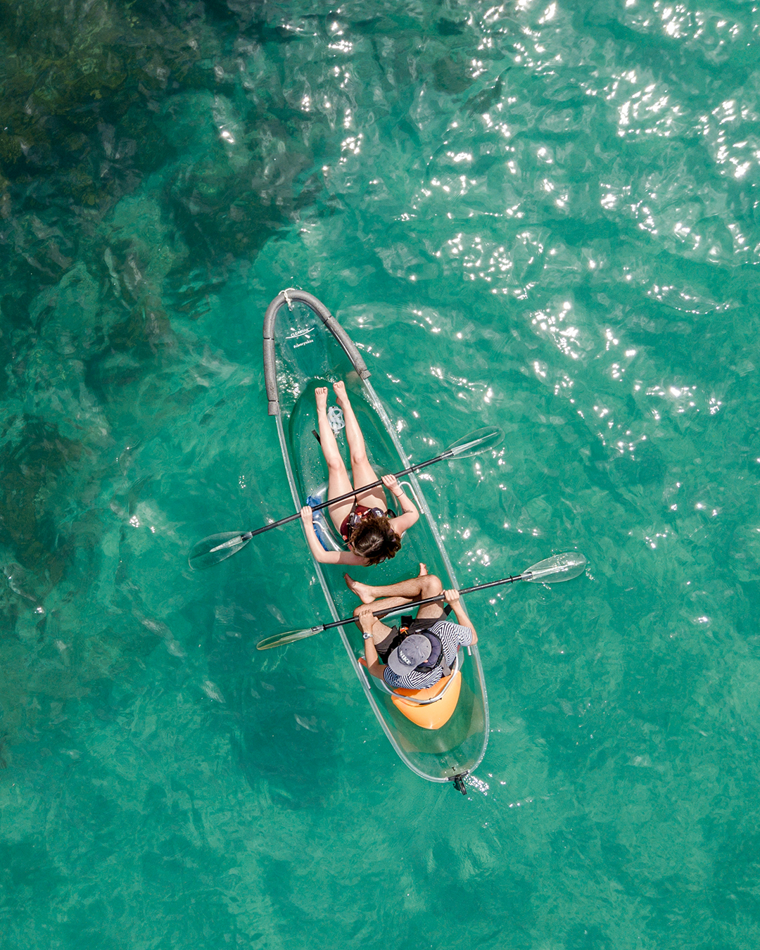 Clear Kayak On Water