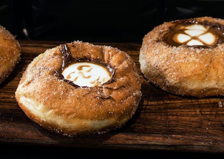 Coffee In A Doughnut