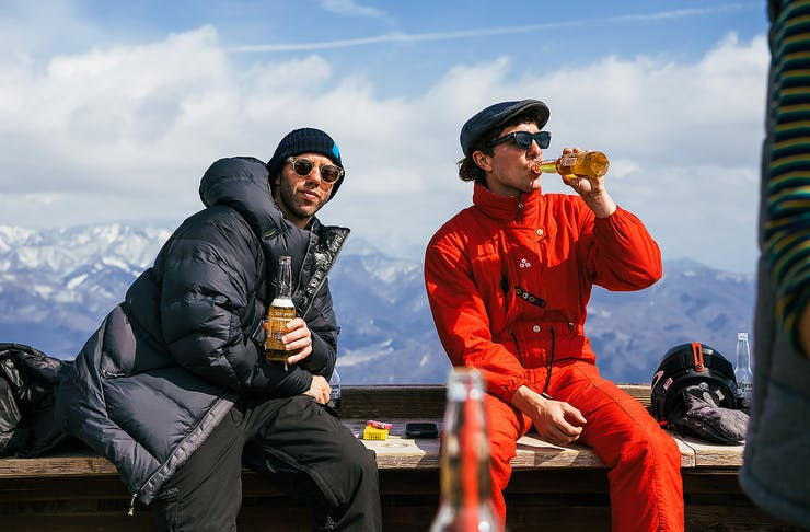 Cold Beers on the slopes at Snow Machine