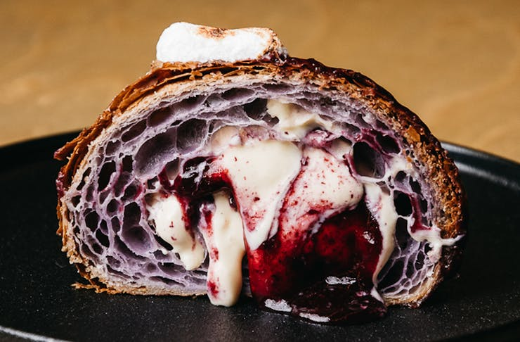 Image of the Purple Raine croissant fillings