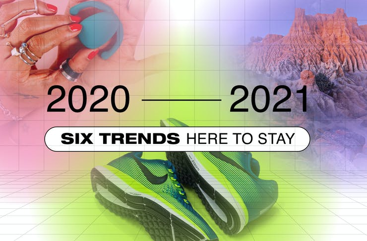 An infographic for what will be trending in 2021. The text reads,