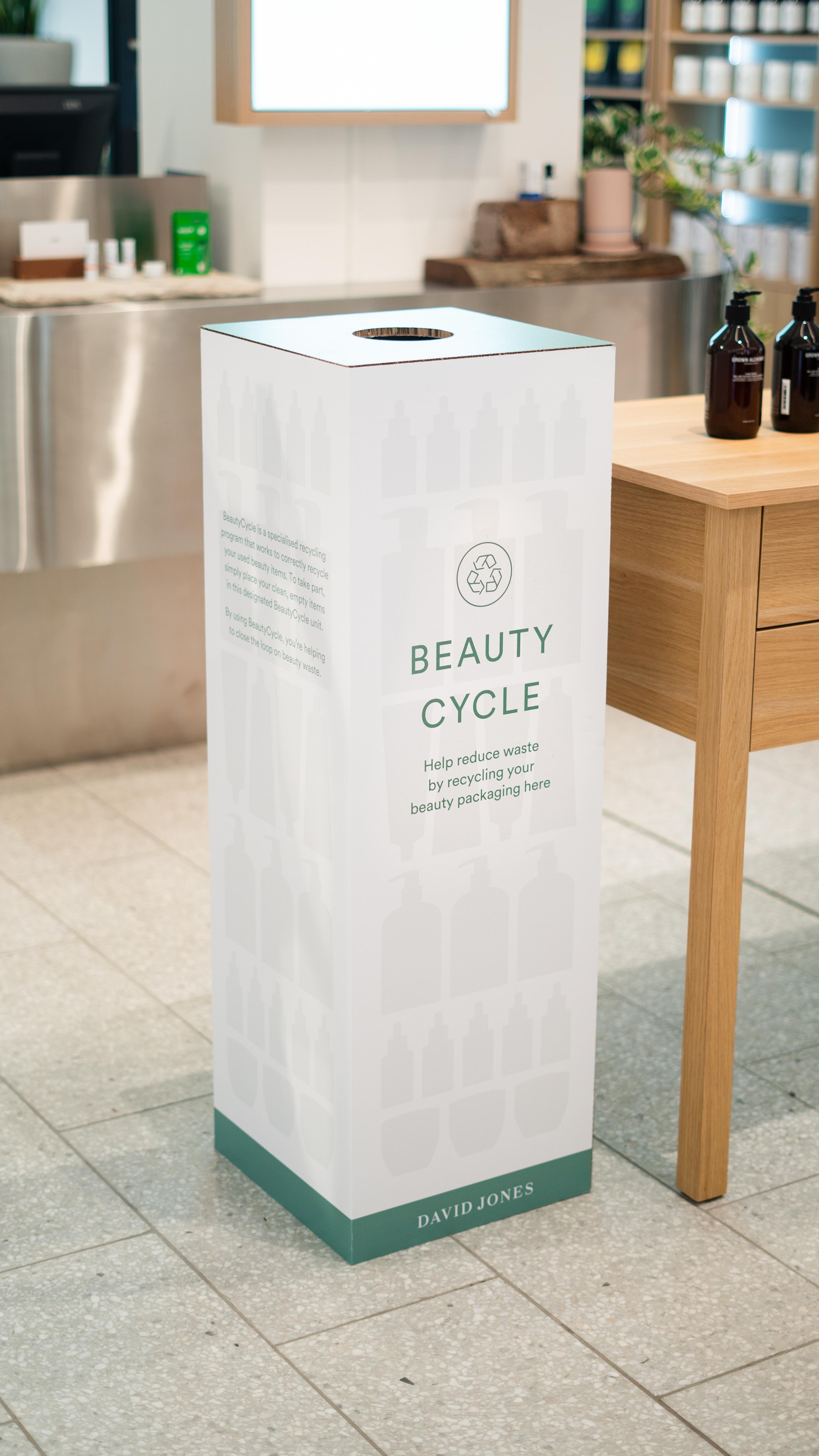 a large cardboard bin