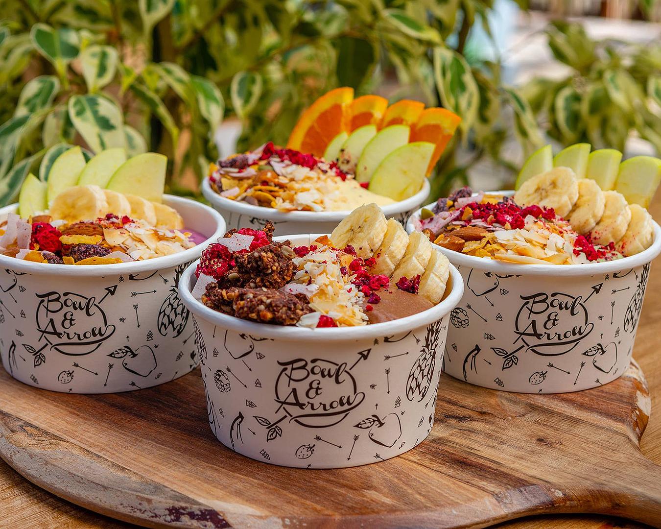 Beautiful smoothie bowls at Bowl & Arrow