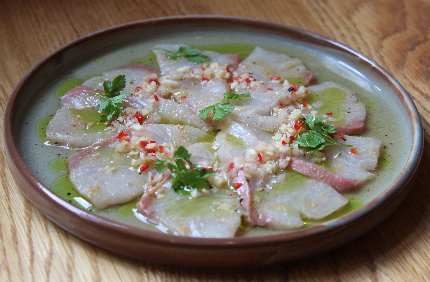 Dry Aged Kingfish with Lemongrass from Cafe Hanoi.