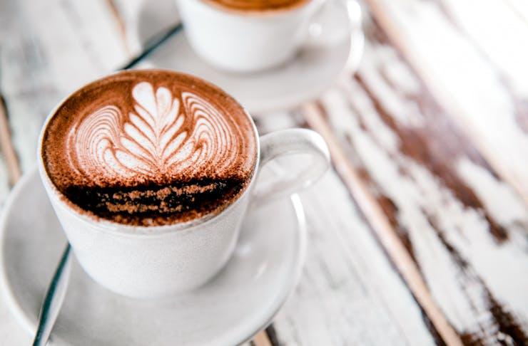 a close up shot of a pretty coffee