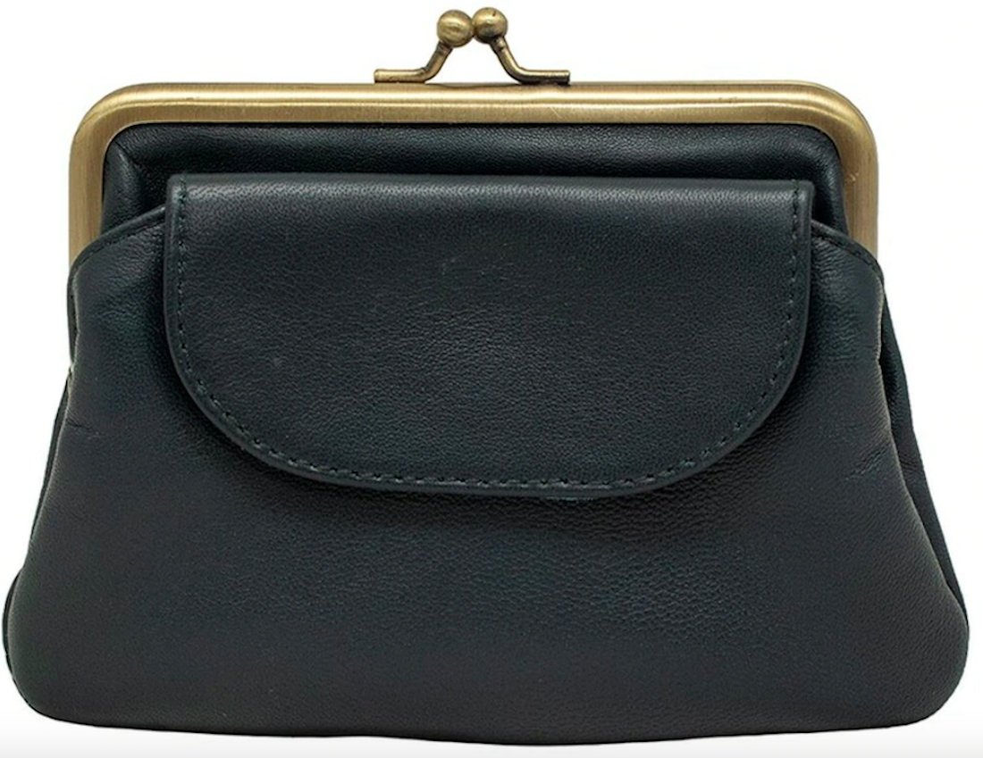 A blue vintage-inspired purse from Empire of Bees.