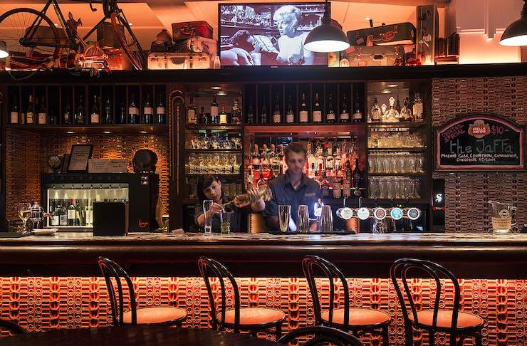 Two bar tenders at Emporium.