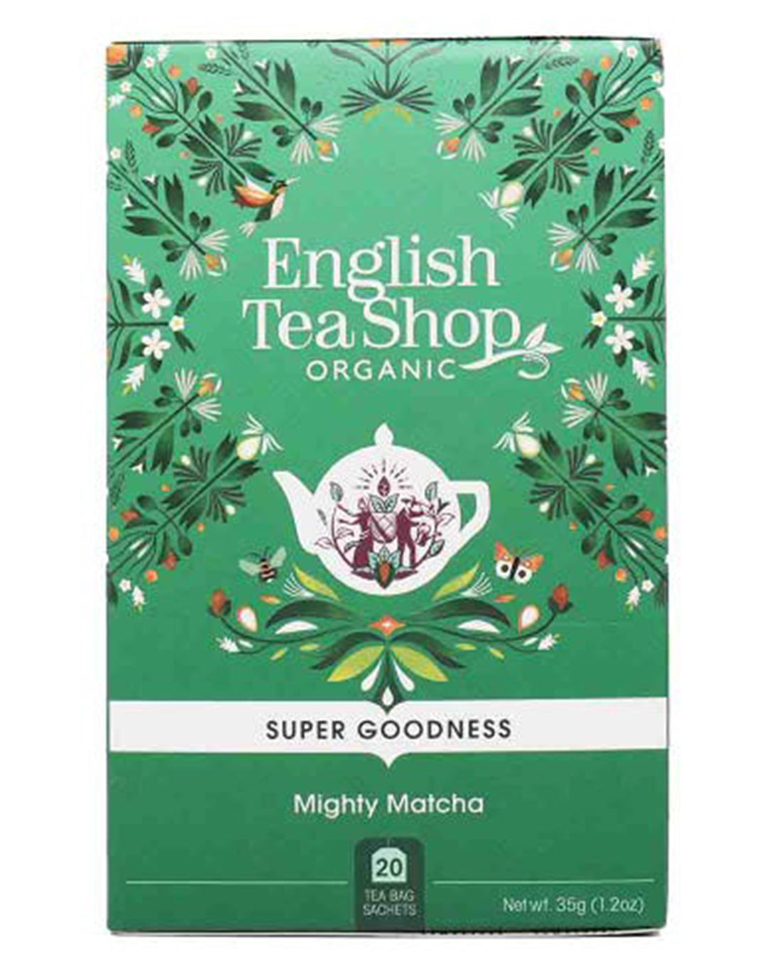 Box of matcha tea bags