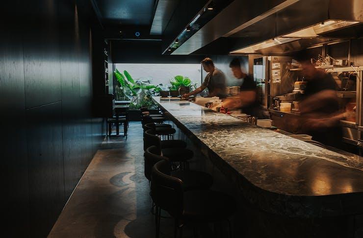 bar and interior of essa